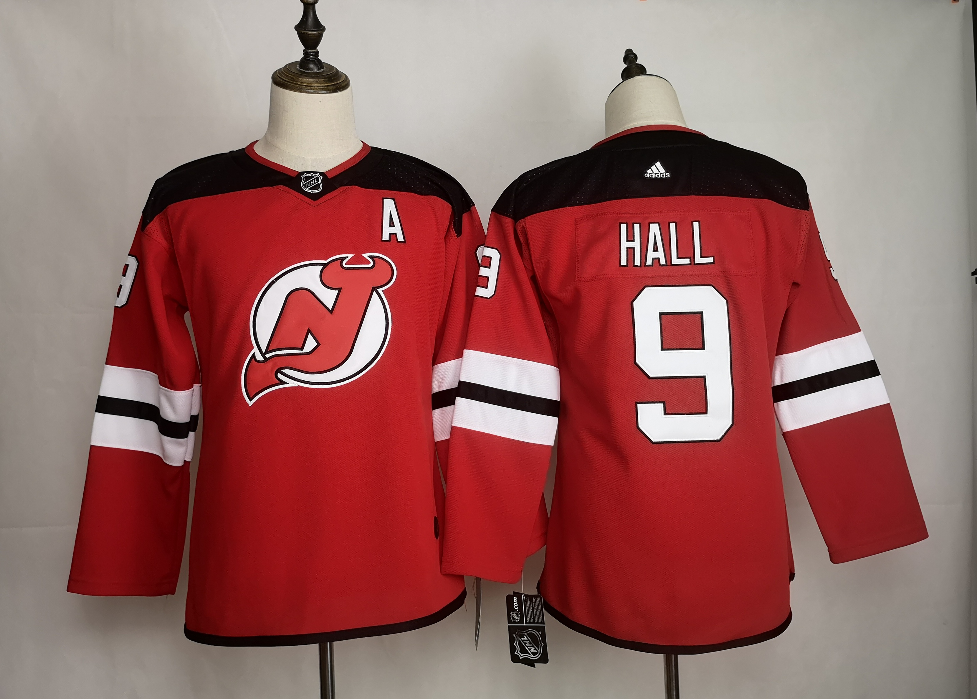 Devils 9 Taylor Hall Red Women Adidas Jersey