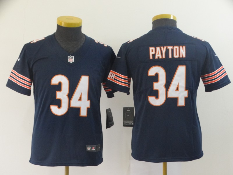 Nike Bears 34 Walter Payton Navy Youth Vapor Untouchable Limited Jersey