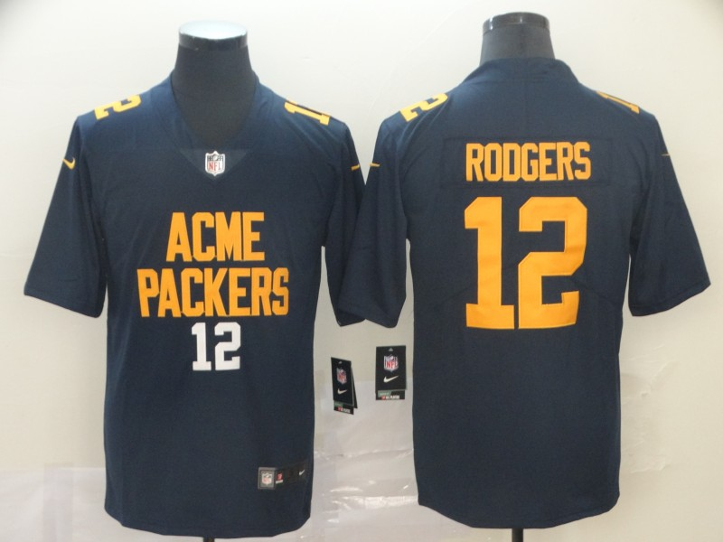 Nike Packers 12 Aaron Rodgers Navy City Edition Vapor Untouchable Limited Jersey
