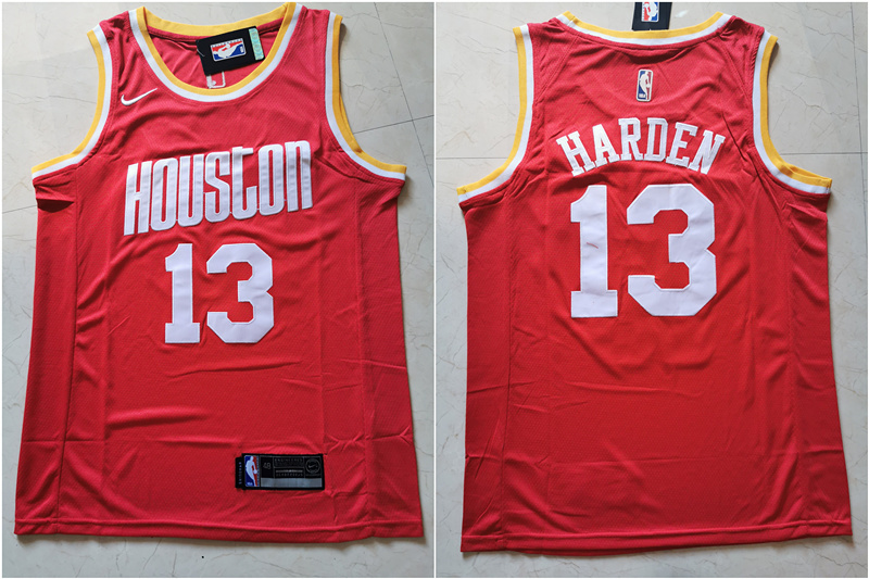Rockets 13 James Harden Red Nike Retro Swingman Jersey