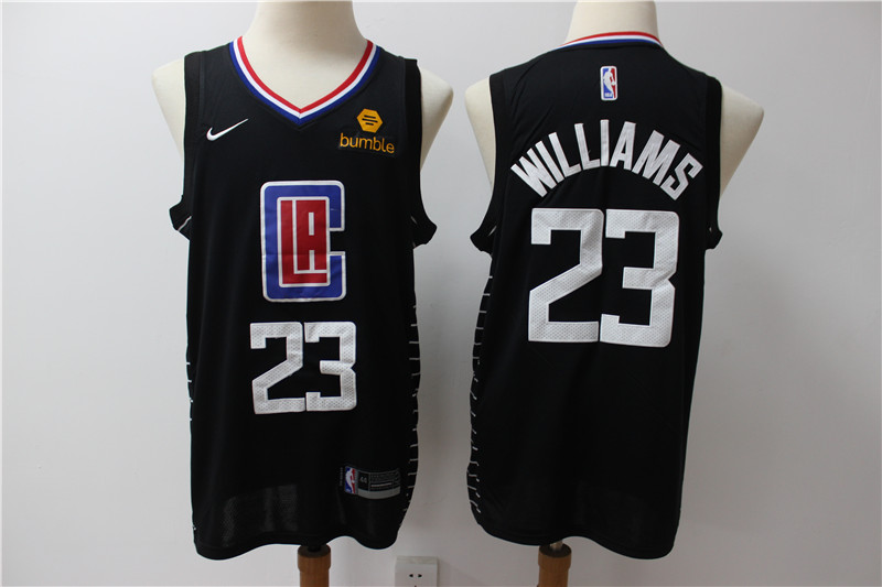 Clippers 23 Lou Williams Black Nike Swingman Jersey