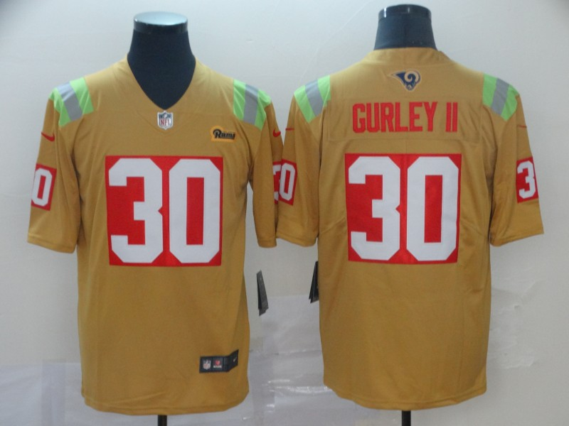 Nike Rams 30 Todd Gurley II Gold City Edition Vapor Untouchable Limited Jersey