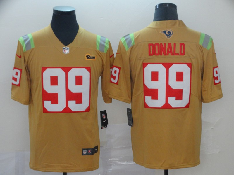 Nike Rams 99 Aaron Donald Gold City Edition Vapor Untouchable Limited Jersey