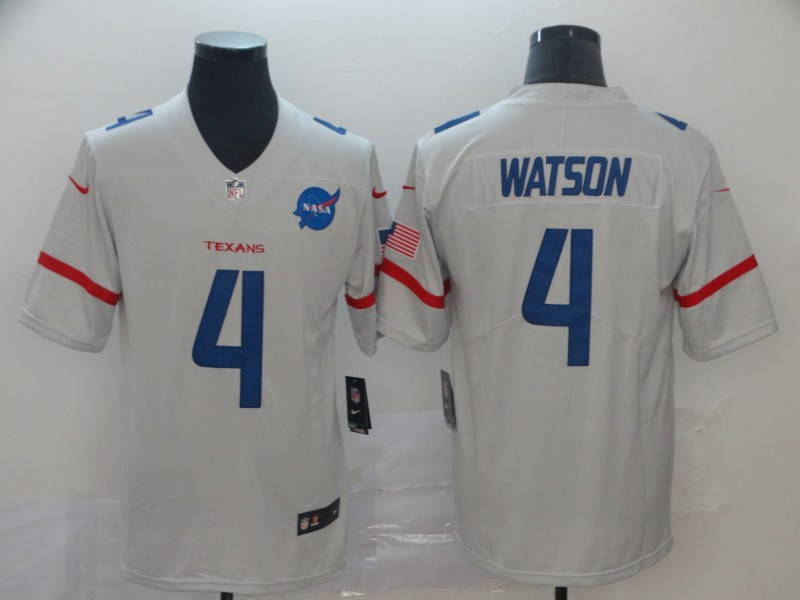 Nike Texans 4 Deshaun Watson White City Edition Vapor Untouchable Limited Jersey
