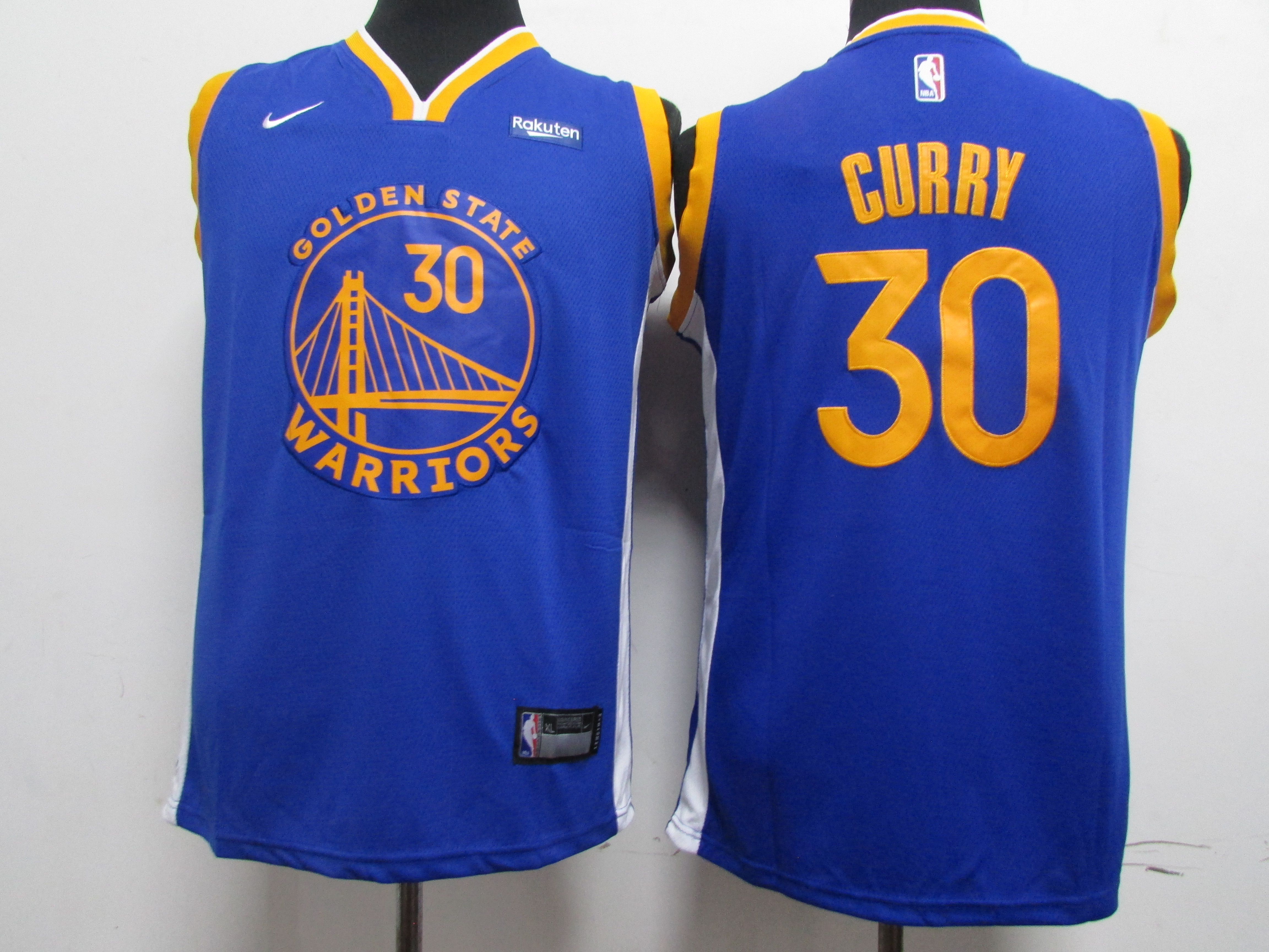 Warriors 30 Stephen Curry Blue Youth 2020 New Nike Swingman Jersey