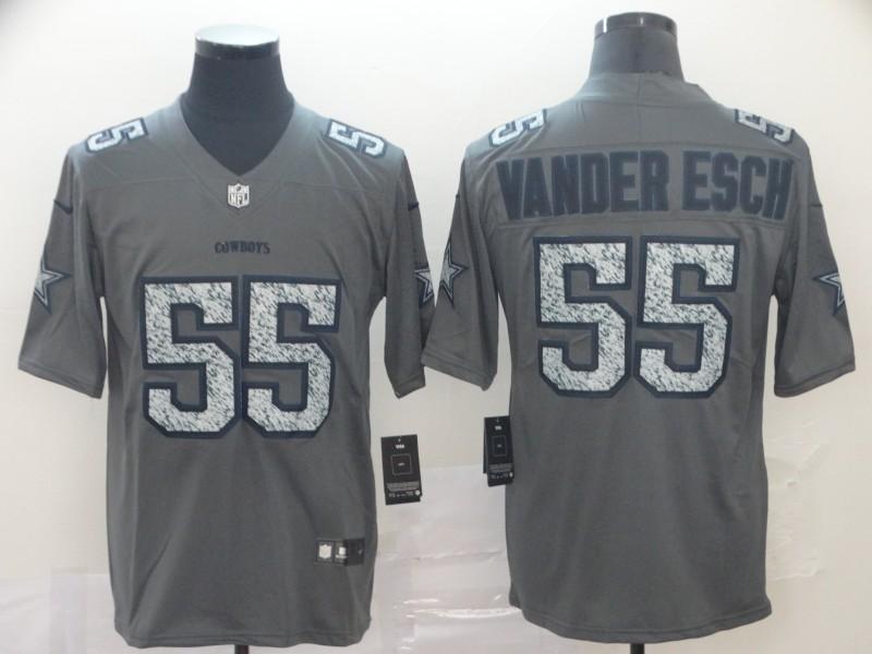 Nike Cowboys 55 Leighton Vander Esch Gray Camo Vapor Untouchable Limited Jersey