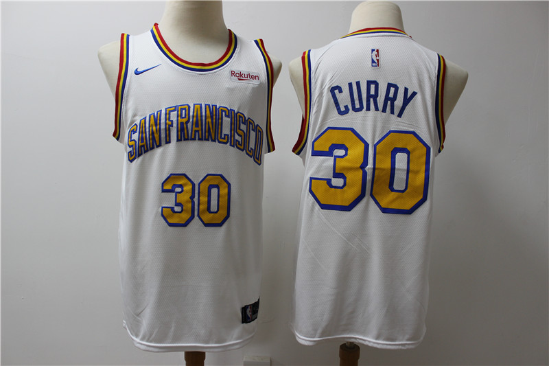 Warriors 30 Stephen Curry White Nike Swingman Jersey