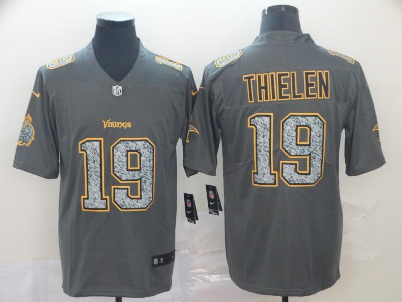 Nike Vikings 19 Adam Thielen Gray Camo Vapor Untouchable Limited Jersey