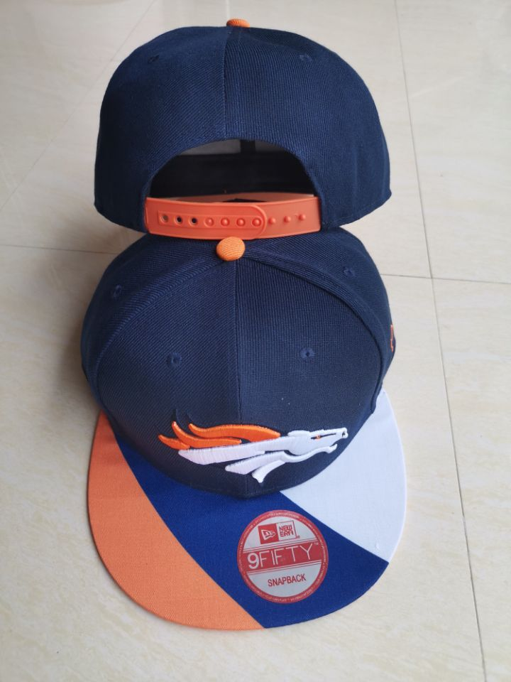 Broncos Team Logo Navy Adjustable Hat LT