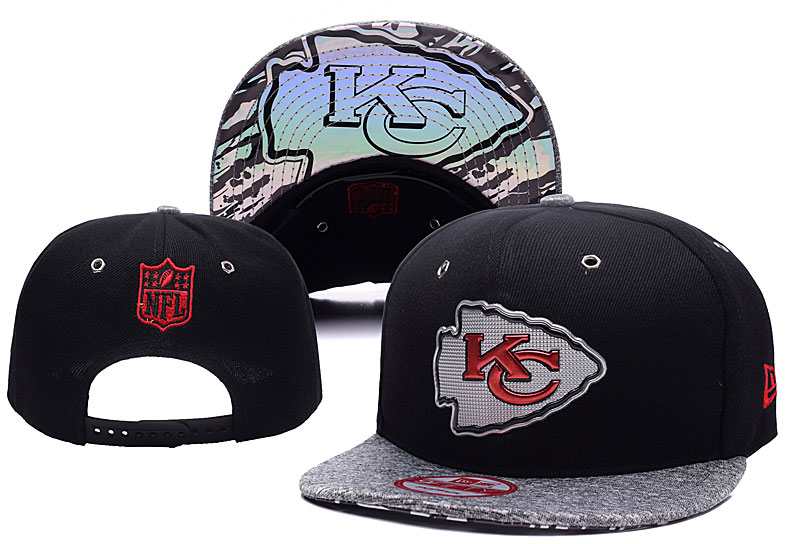 Chiefs Team Logo Black Adjustable Hat YD