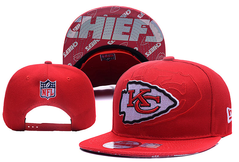 Chiefs Team Logo Red Adjustable Hat YD