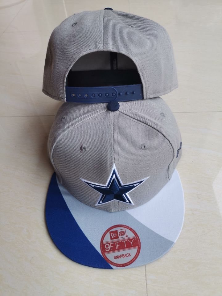 Cowboys Team Logo Gray Adjustable Hat LT