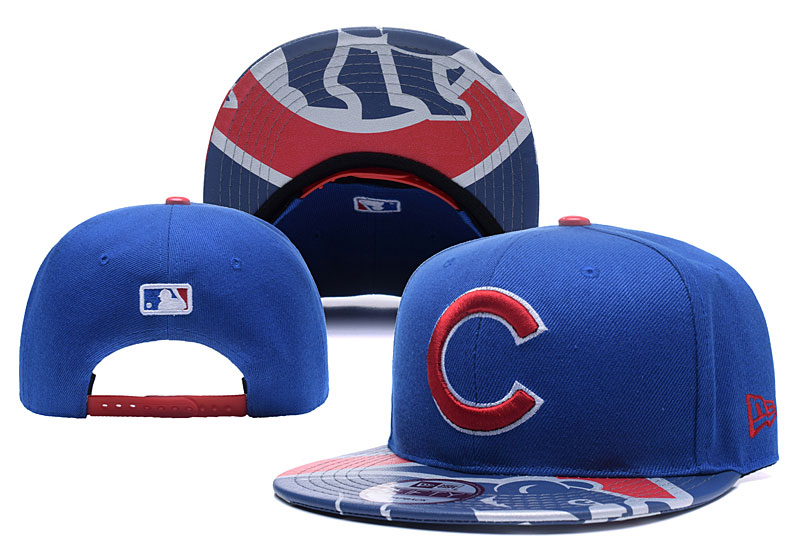 Cubs Team Logo Blue Adjustable Hat YD