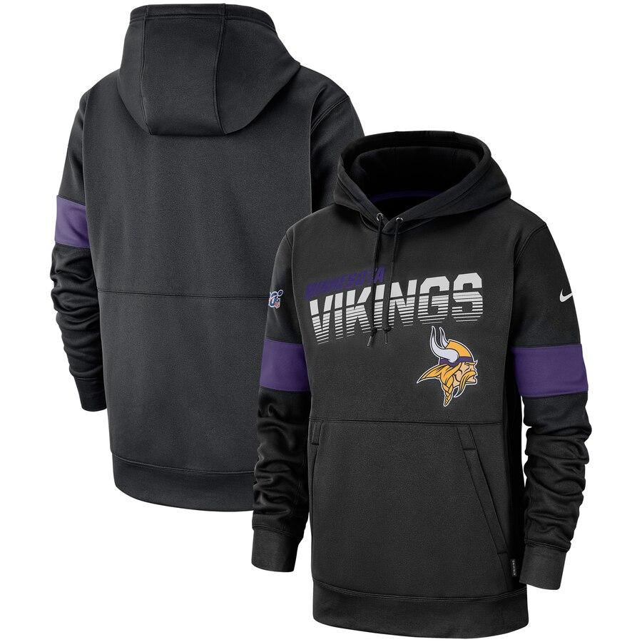 Minnesota Vikings Nike Sideline Team Logo Performance Pullover Hoodie Black