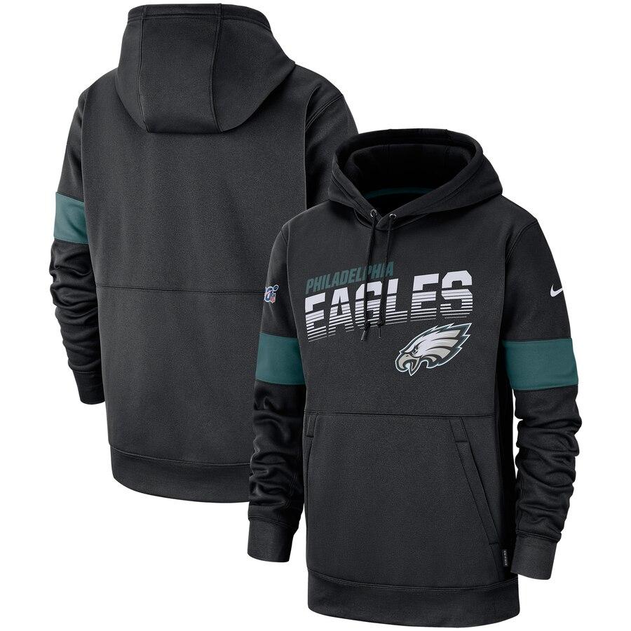 Philadelphia Eagles Nike Sideline Team Logo Performance Pullover Hoodie Black