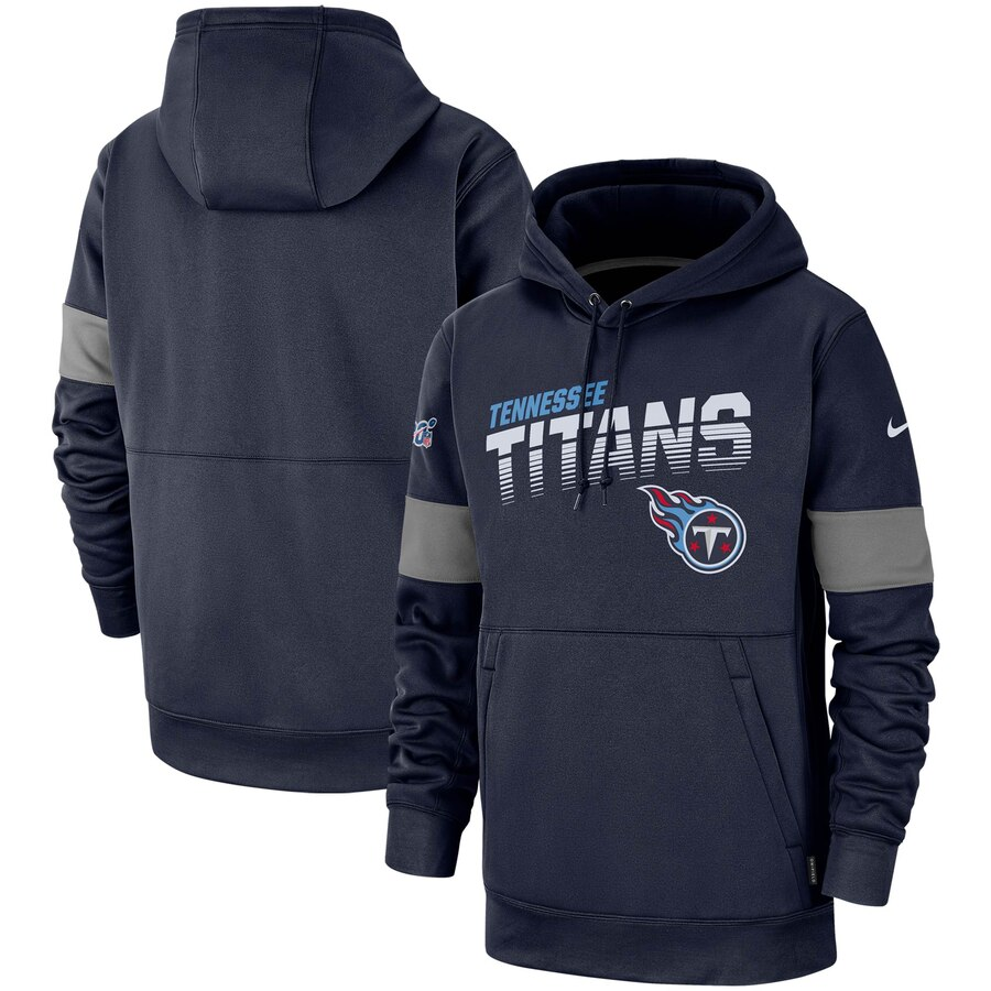 Tennessee Titans Nike Sideline Team Logo Performance Pullover Hoodie Navy