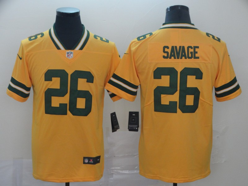 Nike Packers 26 Darnell Savage Jr. Gold Inverted Legend Limited Jersey
