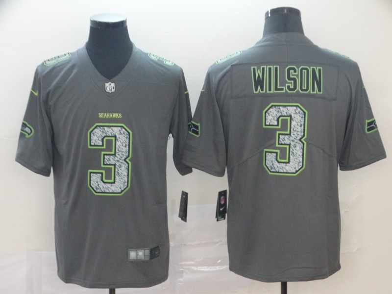 Nike Seahawks 3 Russell Wilson Gray Camo Vapor Untouchable Limited Jersey