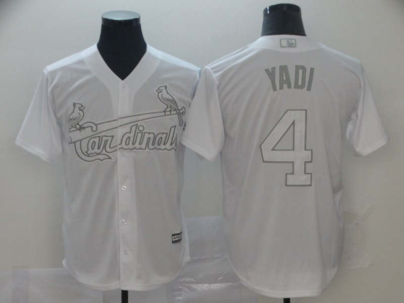 "Cardinals 4 Yadier Molina ""Yadi"" White 2019 Players' Weekend Player Jersey"