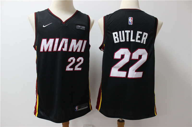 Heat 22 Jimmy Butler Black Nike Swingman Jersey
