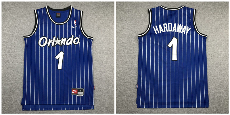 Magic 1 Anfernee Hardaway Navy Nike Swingman Jersey