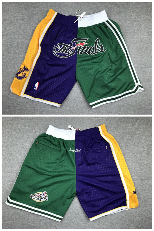 Lakers And Celtics Team 2008 NBA Finals Logo Shorts
