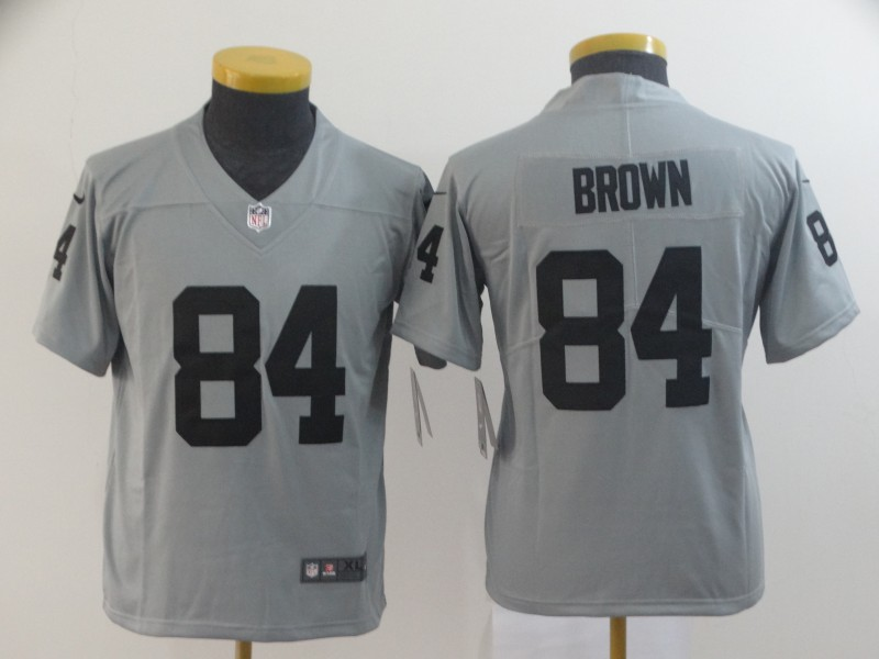 Nike Raiders 84 Antonio Brown Gary Youth Inverted Legend Limited Jersey