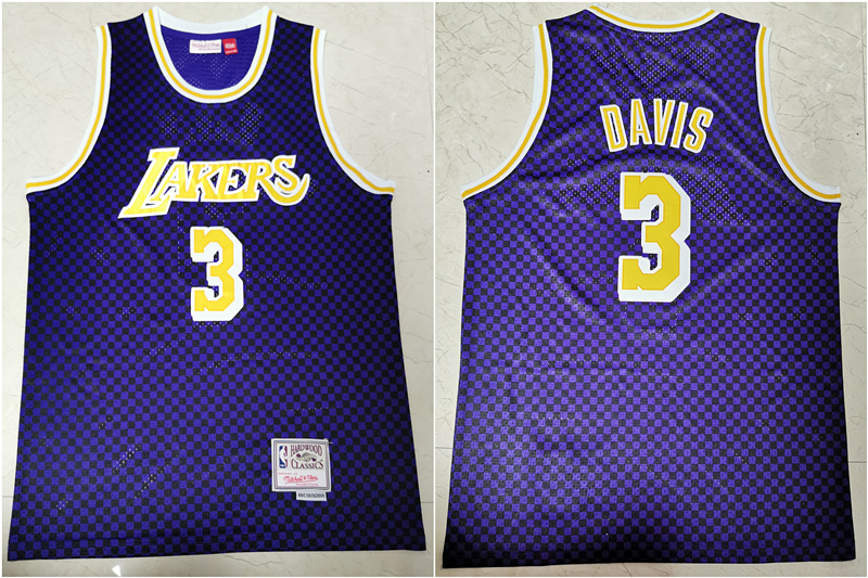 Lakers 3 Anthony Davis Purple Hardwood Classics Swingman Jersey