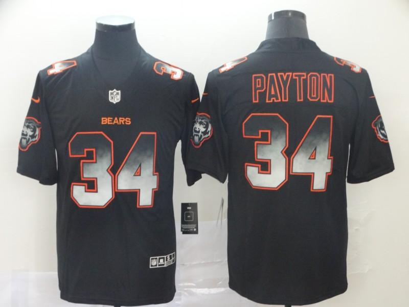 Nike Bears 34 Walter Payton Black Arch Smoke Vapor Untouchable Limited Jersey