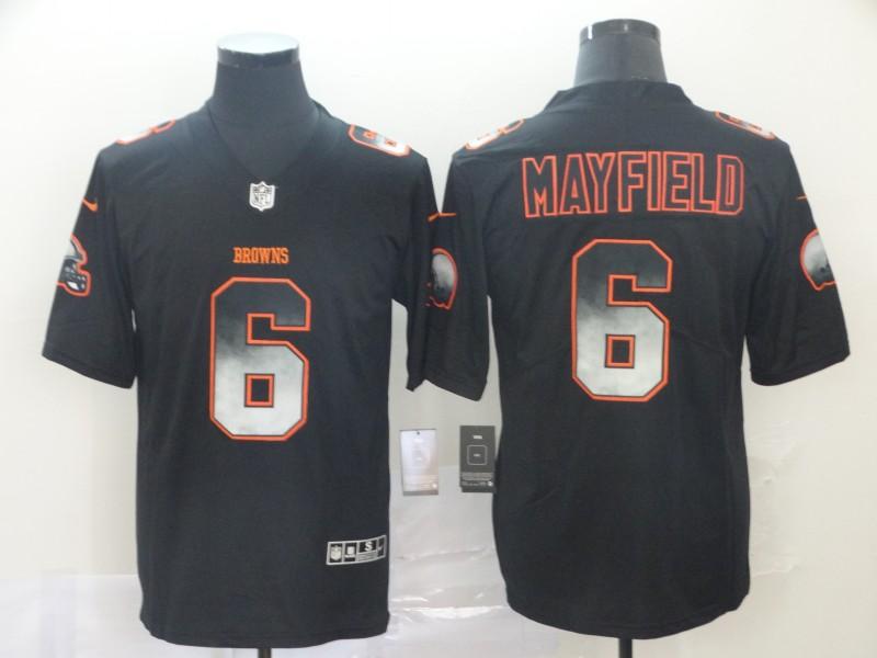 Nike Browns 6 Baker Mayfield Black Arch Smoke Vapor Untouchable Limited Jersey