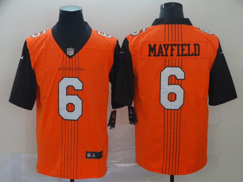 Nike Browns 6 Baker Mayfield Orange City Edition Vapor Untouchable Limited Jersey