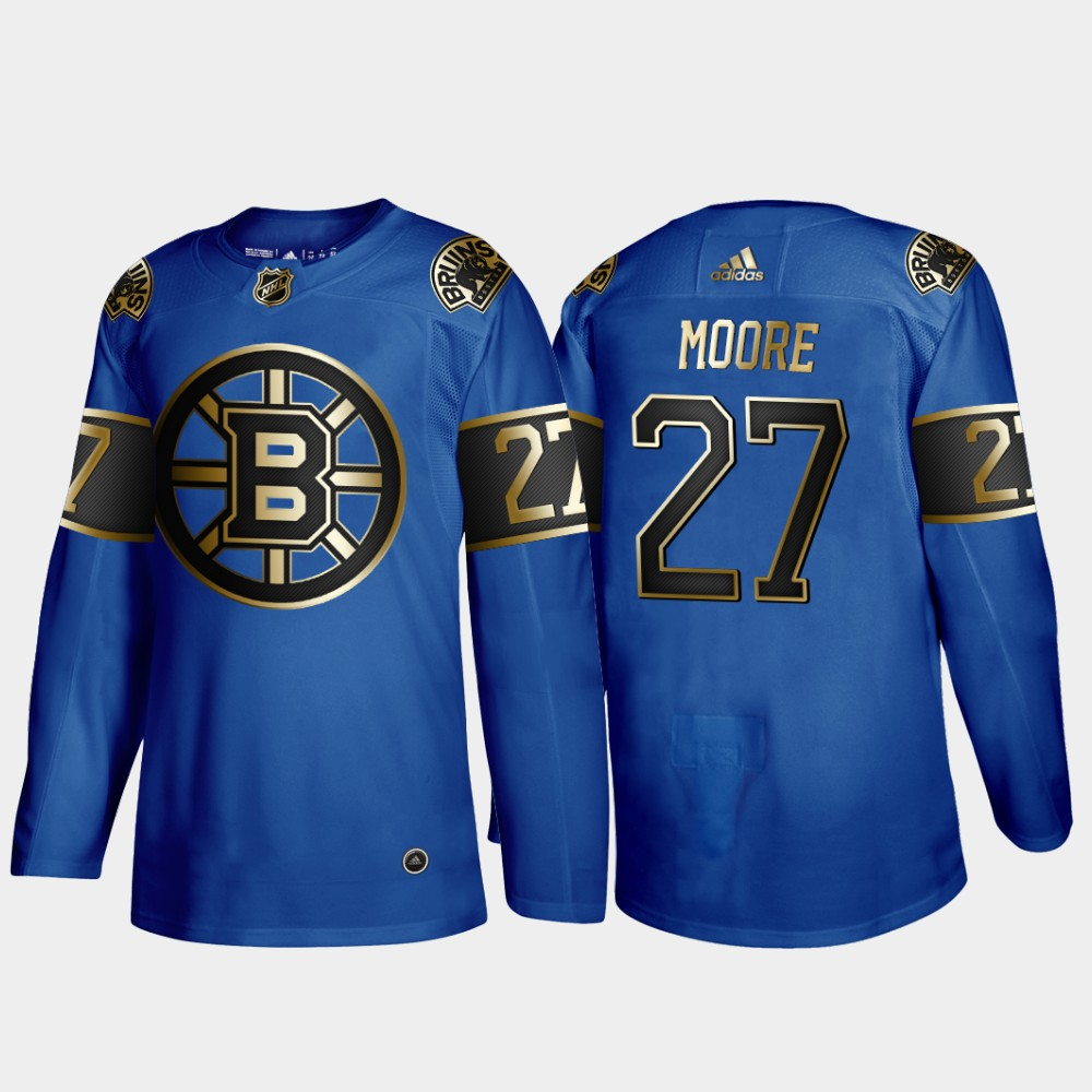 Bruins 27 John Moore Blue 50th anniversary Adidas Jersey