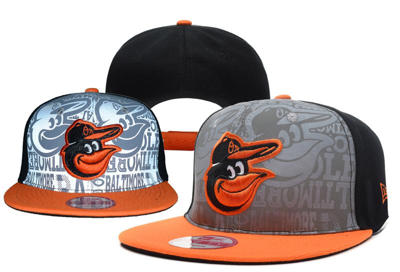 Orioles Team Logo Gray Black Adjustable Hat YD