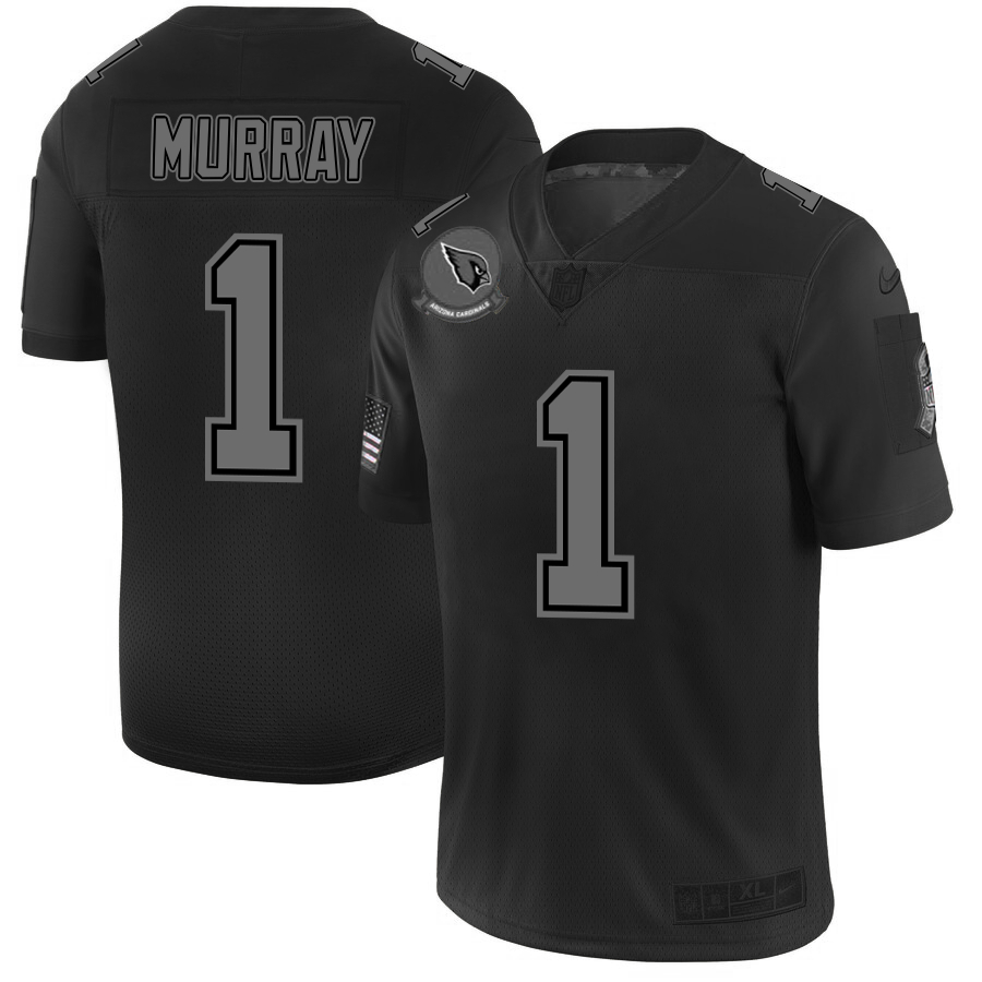Nike Cardinals 1 Kyler Murray 2019 Black Salute To Service Fashion Limited Jersey