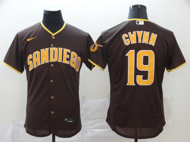 Padres 19 Tony Gwynn Brown Nike 2020 Flexbase Jersey