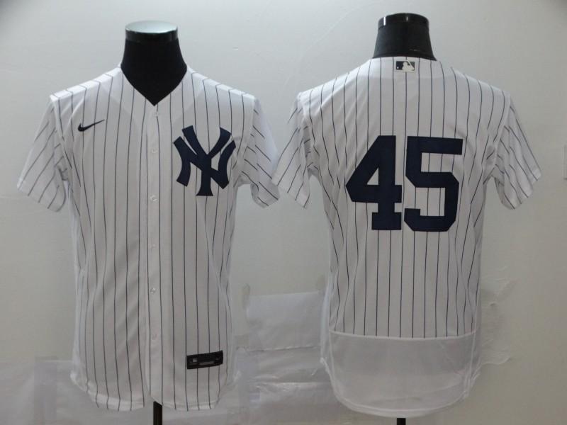 Yankees 45 Gerrit Cole White 2020 Nike Flexbase Jersey
