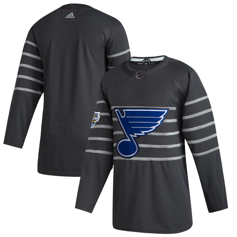 Blues Blank Gray 2020 NHL All-Star Game Adidas Jersey