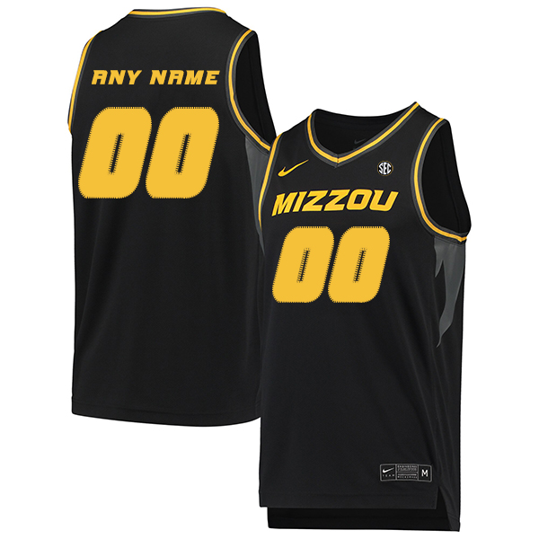 Missouri Tigers Customized Black College Basketball Jersey