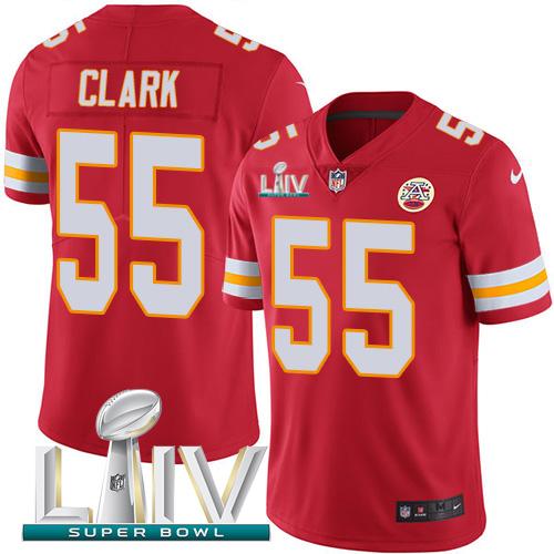 Nike Chiefs 55 Frank Clark Red 2020 Super Bowl LIV Vapor Untouchable Limited Jersey