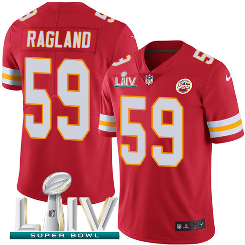 Nike Chiefs 59 Reggie Ragland Red 2020 Super Bowl LIV Vapor Untouchable Limited Jersey
