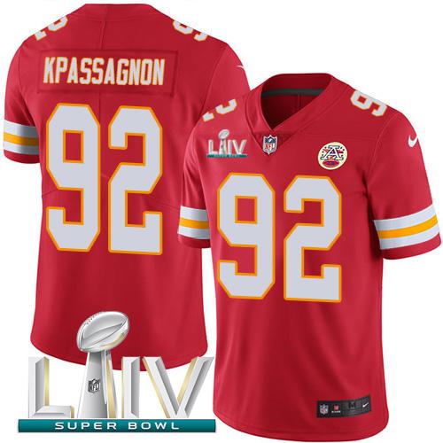 Nike Chiefs 92 Tanoh Kpassagnon Red 2020 Super Bowl LIV Vapor Untouchable Limited Jersey