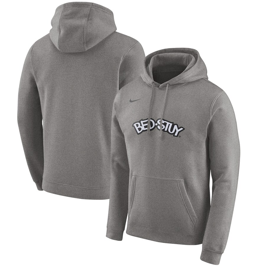 Brooklyn Nets Nike 2019-20 City Edition Club Pullover Hoodie Heather Gray