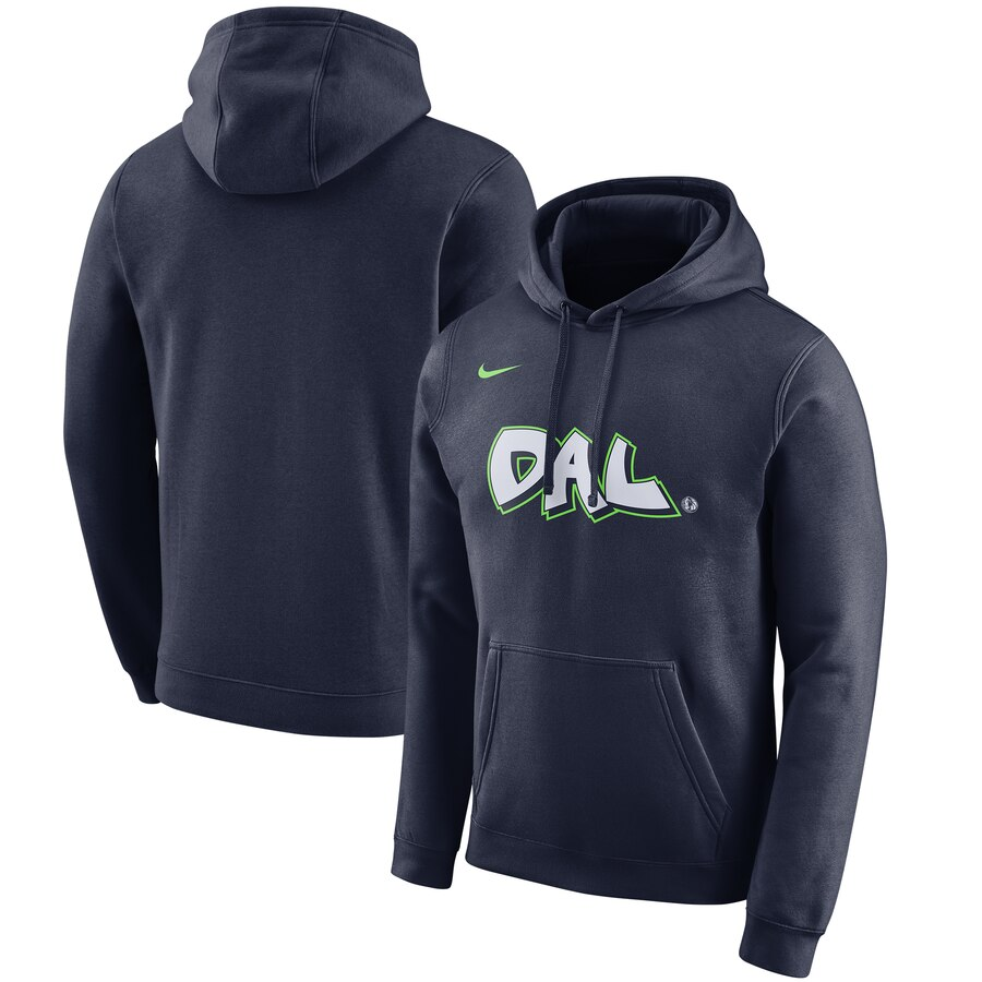 Dallas Mavericks Nike 201920 City Edition Club Pullover Hoodie Navy