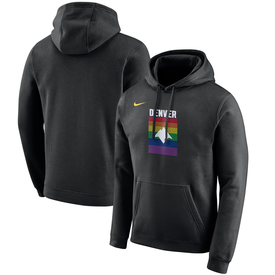 Denver Nuggets Nike 2019-20 City Edition Club Pullover Hoodie Black