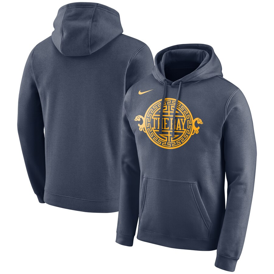 Golden State Warriors Nike City Edition Logo Essential Pullover Hoodie Navy