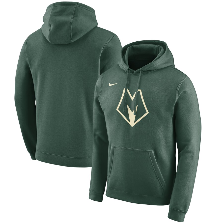 Milwaukee Bucks Nike 2019-20 City Edition Club Pullover Hoodie Green