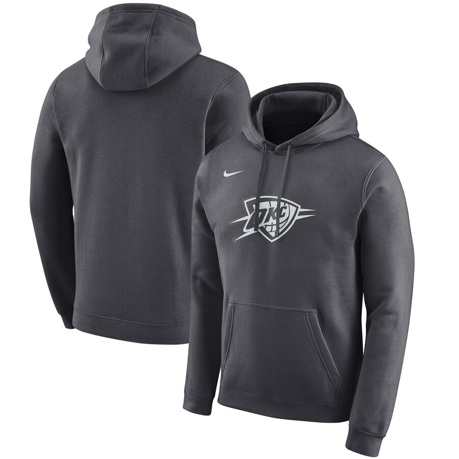Oklahoma City Thunder Nike 2019-20 City Edition Club Pullover Hoodie Anthracite
