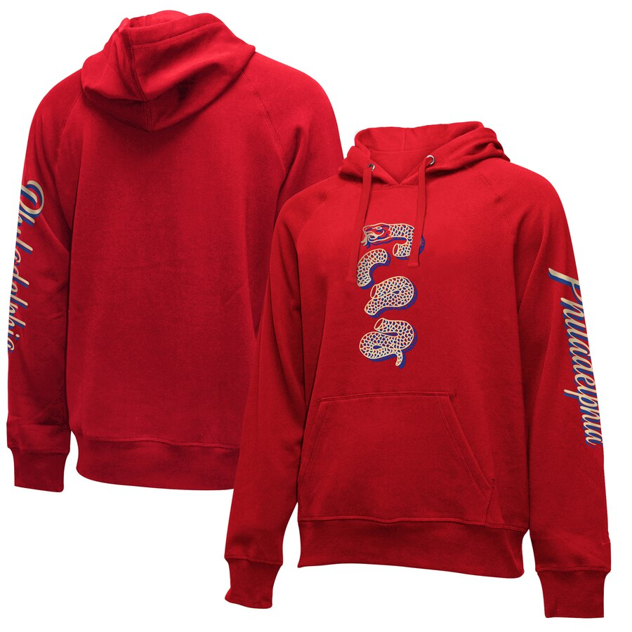 Philadelphia 76ers New Era 2019-20 City Edition Pullover Hoodie Red