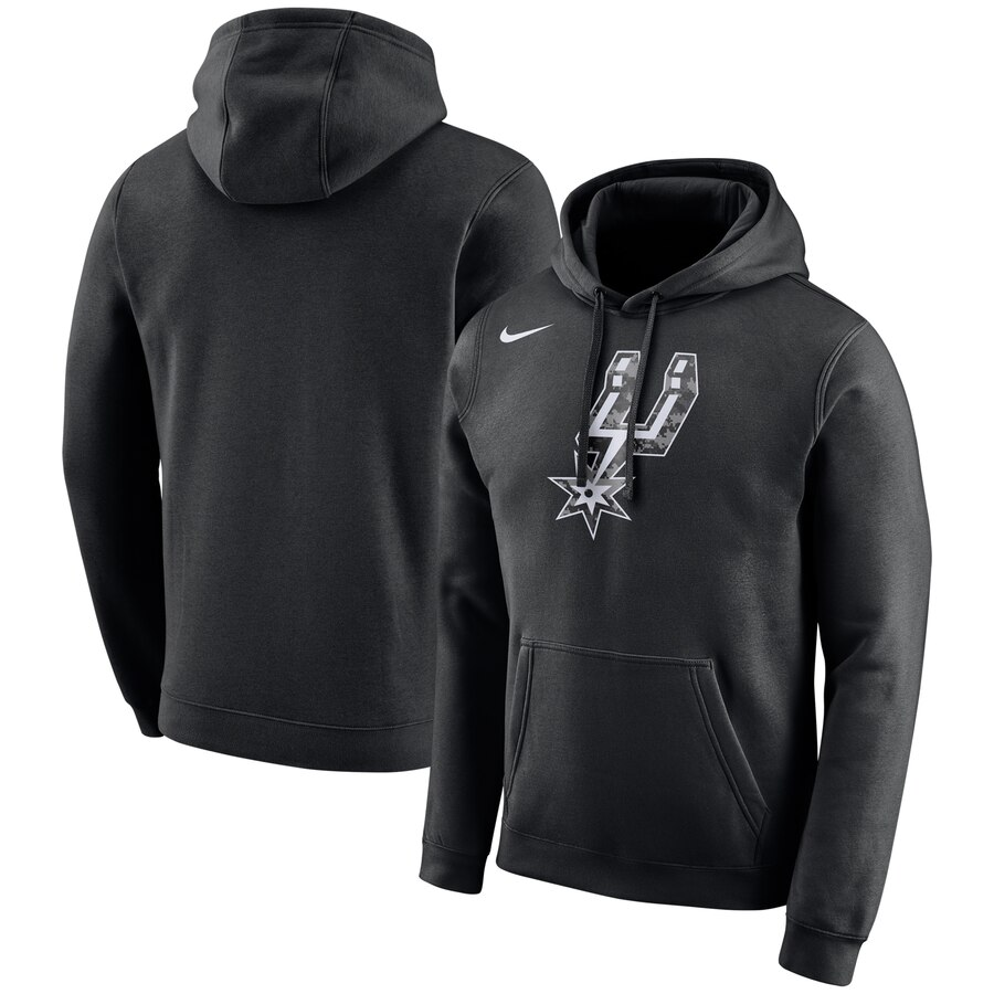 San Antonio Spurs Nike City Edition Logo Essential Pullover Hoodie Black
