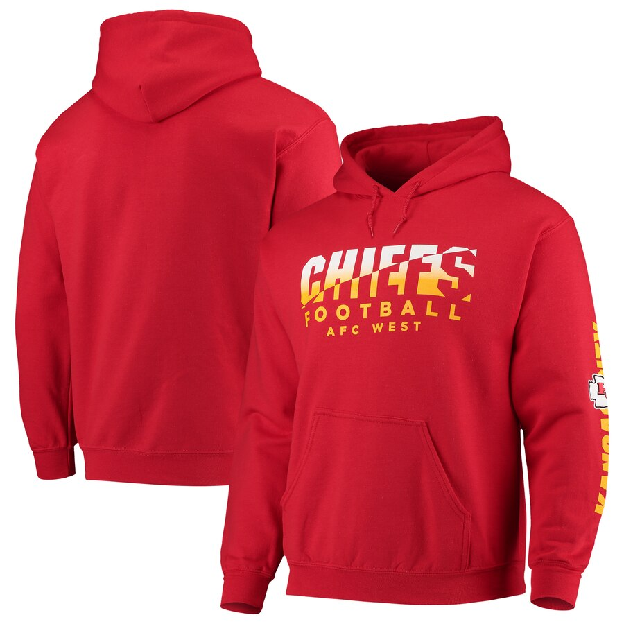 Kansas City Chiefs Junk Food Angled Pullover Hoodie Red